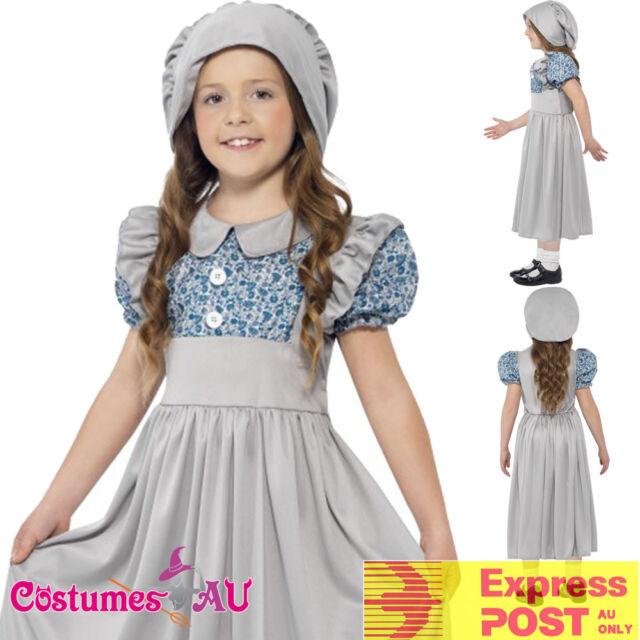 Childs 9-10Yr Victorian Maid Poor Girl Book Week Fancy -4820