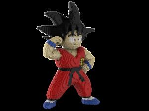 LEGO Kid Goku statue building instruction - Dragon Ball Z