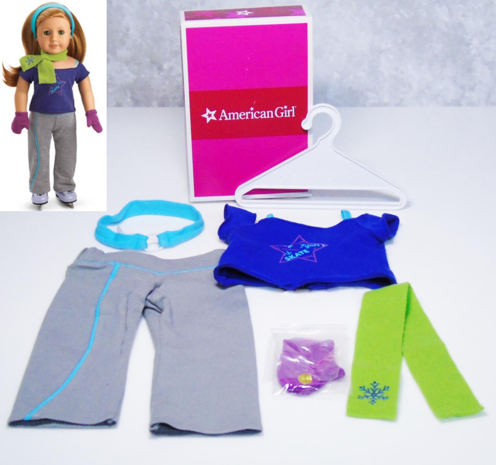 American Girl Bambola Abbigliamento Mia Ghiaccio Pratica Completo Sciarpa Guanti