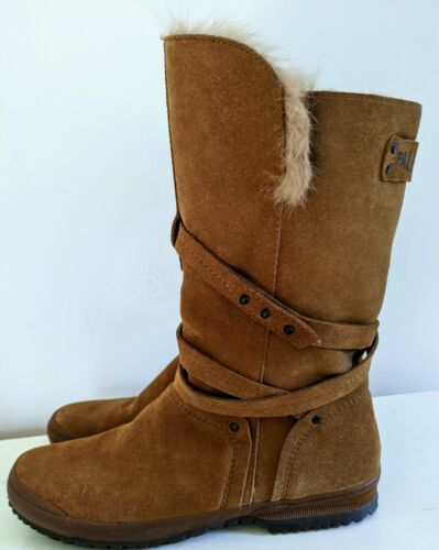 Womens boots Nordstrom PALLADIUM brown Fur Lined