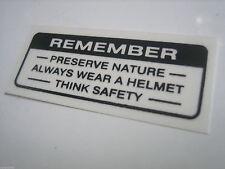 Honda C50 C90 C70 Passport PA50 Label Drive Caution Headlamp Headlight Handlebar