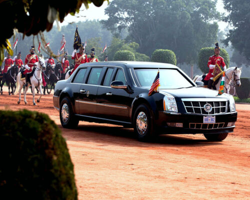 8X10 PHOTO EE-114 BARACK OBAMA TRAVELS TO CEREMONIAL WELCOME IN NEW DEHLI
