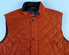 Polo Ralph Lauren Quilted Hunting Vest Cord Collar $225-275 Blackwatch Plaid NWT