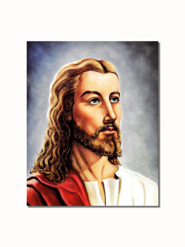 Face of Jesus Christ Close Up Religious Wall Picture 8x10 Art Print