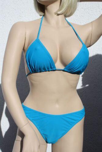 2019//20 Saison 440507 Neckholder Triangel Bikini mit Slip in Blau in in 44
