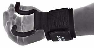 Weight-Lifting-Hooks-Gym-Training-Wrist-Support-Grips-Straps-Wrap-Gloves