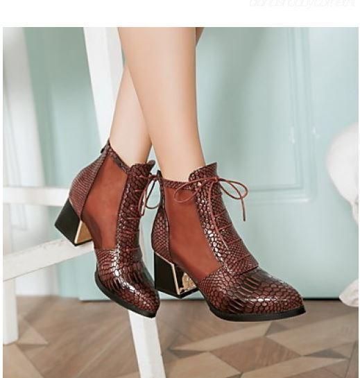 Bottes stivaletti traforati chaussures tacco 6 beige comodi pelle sintetica 8796