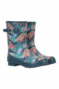 Mountain Warehouse Wms Mid Height Womens Printed Rubber Wellie Wellies