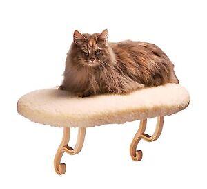 Kitty Sill Cat Window Perch Pet Seat Bed Indoor Mount Shelf Bolster Kitten Sleep