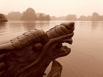 SEASCAPE HALONG BAY DRAGON VIETNAM ISLAND LARGE POSTER ART PRINT BB3110A