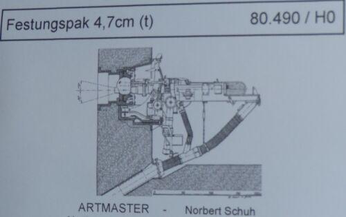t Artmaster 80.490 Festungspak 4,7 cm H0 1:87 Bausatz unbemalt