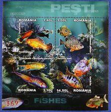 Rumanía Romania 2012 peces animales marinos fishes poissons bloque 532 mnh a: 500