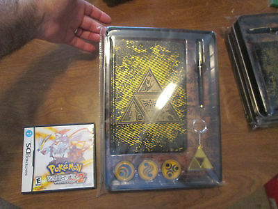 RARE Legend of Zelda:Tri-Force Metal Journal Set: journal, pen, 3 pins, keychain