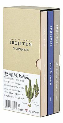 New TOMBOW Irojiten Vol.2 Color Pencils Dictionary Woodlands CI-RTB-30C Japan