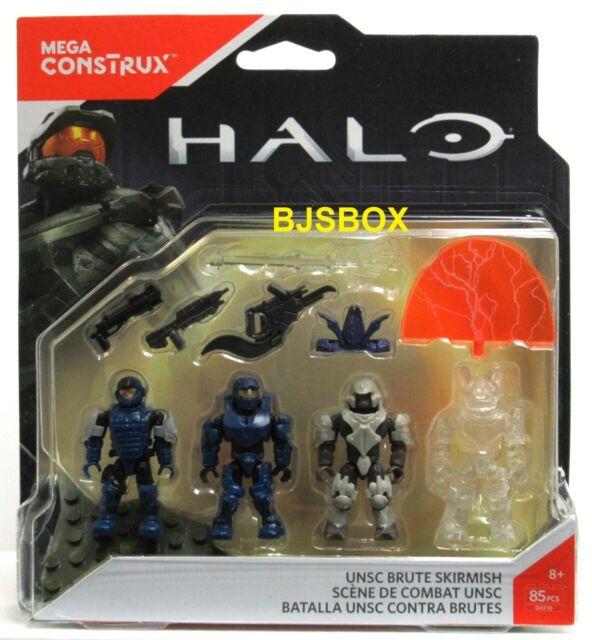 Mattel Mega Construx HALO UNSC Brute Skirmish 4 Figures 85 Pcs Armor Weapons New
