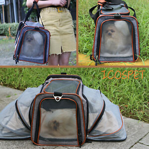 Pet-Carrier-Expandable-Puppy-Kitten-Cat-Dog-Tote-Bag-Travel-Airline-Approved
