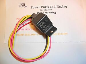 heavy duty wiring harness w 50 amp tyco bosch relay 4r ebay rh ebay com Wire Harness Board Wire Harness Board