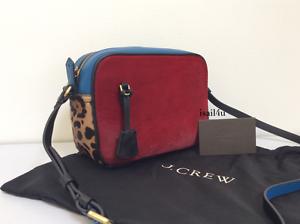 Fuchsia Bloom J.Crew Signet Bag In Italian Leather NWT Authentic Color