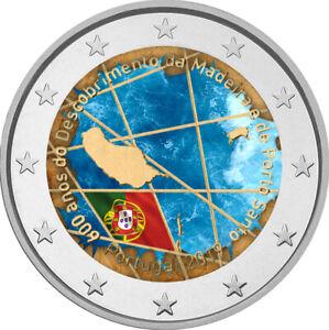 2-Euro-Gedenkmuenze-Portugal-2019-coloriert-mit-Farbe-Farbmuenze-Madeira-2