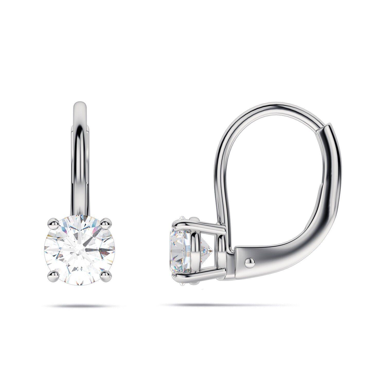 GIA certified 1.00 CTW Round Diamond Fancy Yellow Earrings Set GIA certified 18K