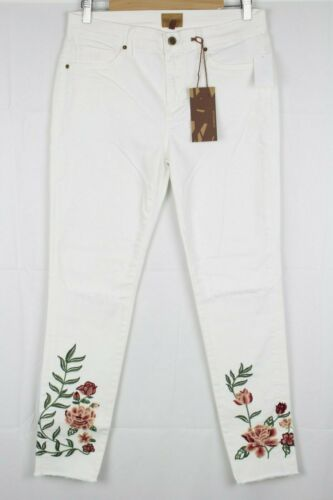 28 or 30 White 29 New Driftwood Women/'s Jackie Skinny Floral Destructed 27