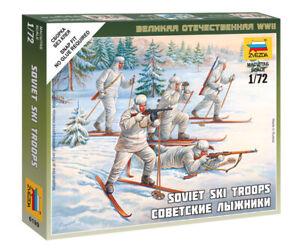 Zvezda 1/72 Figures Soviet Ski Troops Z6199