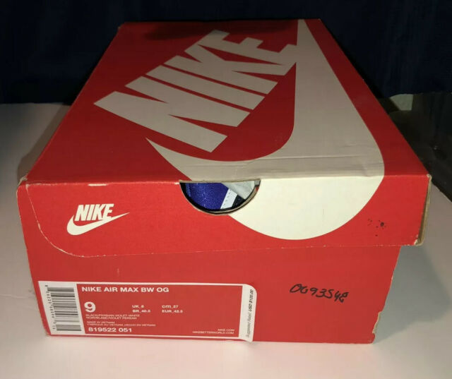 Nike Air Max BW OG Black Persian Violet Men's Sz 9 Brand New