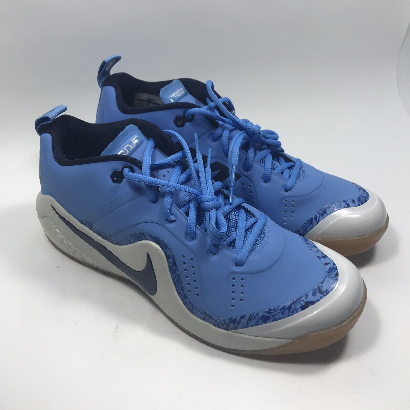 NEW Nike Zoom Trout 4 Turf Baseball shoes Black UNC bluee 917838-440 SZ 13