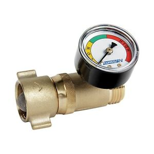 camco rv 40064 fresh water hose pressure regulator with gauge ebay. Black Bedroom Furniture Sets. Home Design Ideas