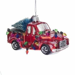 Kurt-Adler-Noble-Gems-Glass-Truck-With-Tree-Ornament