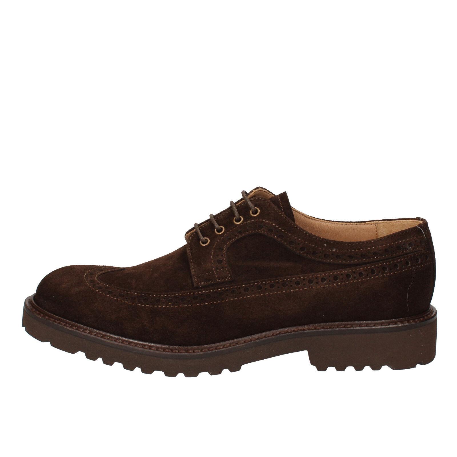 Mens shoes EVOLUZION 5 (EU 39) elegant   oxford-shoes brown suede AD261-B