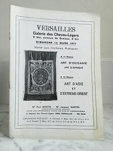Catalogue Di Vendita Versailles Art Oceania Art Africa 13 Mars 1977