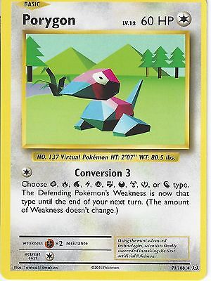 POKEMON XY EVOLUTIONS CARD PORYGON 71//108