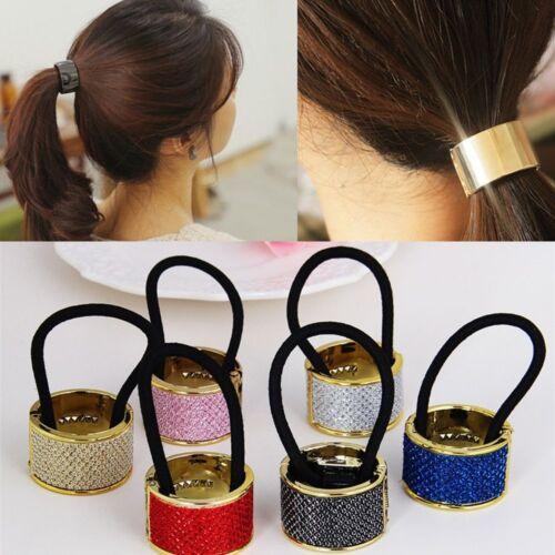 6 Colors Elastic Hair Ring Charm Women Punk Circle Vintage Delicate Hair Bands