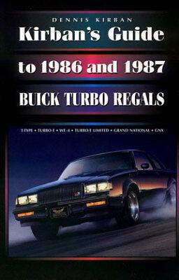 New Buick Grand National >> BUICK TURBO REGAL BOOK GRAND NATIONAL GNX KIRBAN V6 T-TYPE TURBO GUIDE 86 87 | eBay