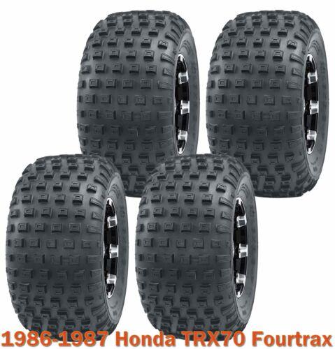 Full Set Sport ATV tires 16x8-7 for 1986-1987 Honda TRX70 Fourtrax