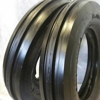 Two 550x16,550-16,5.50x16 Deere Ford Six Ply 3 Rib Tractor Tires W/tubes 5.50-16