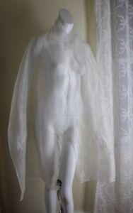 Fine Echarpe Soie Landausaks245 De Nwt En Soie Blanc Wrap Adrienne Rich Blanche f7y6gYbv