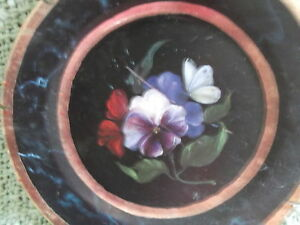 Distressed-Tin-Decorator-Plate-Pansies-by-Mimi-Roberts-Ian-Logan-London-1999