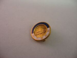 Vintage High Quality R.T.R.S. Building Star of David Design Pin Award Jewelry
