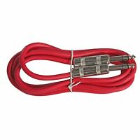 6 Ft Foot Red 6.3mm Trs 1/4 Shielded Balanced Pa Eq Compressor Patch Cable Cord