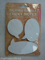 I Talking Bubble Sticky Post It Notes 50 Sheets X 3 Pads Office Supply