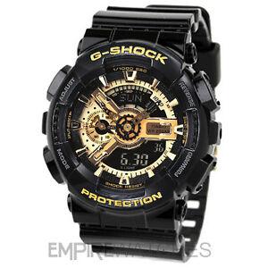 NEW-CASIO-G-SHOCK-MENS-BLACK-GOLD-SPORTS-WATCH-GA-110GB-1AER-RRP-140