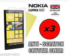 3x HQ CRYSTAL CLEAR SCREEN PROTECTOR COVER LCD FILM GUARD FOR NOKIA LUMIA 920
