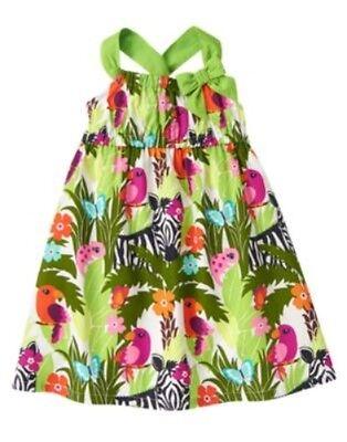 GYMBOREE WILD FOR ZEBRA SAFARI PRINT WOVEN DRESS 3 6 NWT