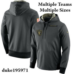 f2a26708337 Nike 2016 NFL Salute to Service Black Hoodie/Hoody Mens Limited ...