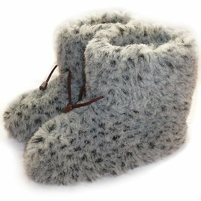 Cozy Foot, Womens, Ladies Mens Pure Sheep Wool Fleece Sheepskin Slipper Boots Pl Profitieren Sie Klein