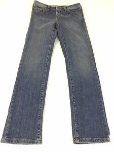 VOLCOM-WOMENS-BLUE-DARK-WASH-COTTON-SLIM-FIT-JEANS-SIZE-26-12-CUTE