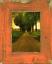 rustique orange Cadre photo en véritable Alt-bois en maison de campagne-style vintage