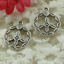 free ship 60 pieces Antique silver peace symbol charms 17x13mm #3364
